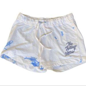 Rolling Stones Pajamas/Lounging Shorts cream & blue women's size medium. Comfy!